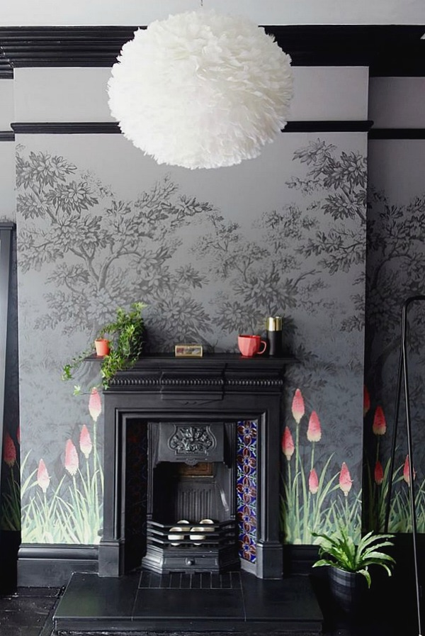 Fireplace-ideas-a-striking-in-black-and-grey-with-coral-accents-wallpaper-wp5604802