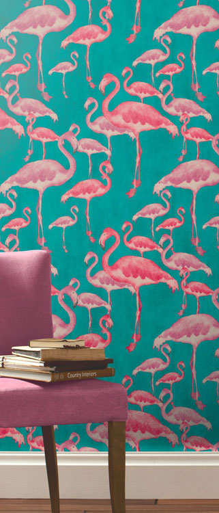 Flamingo-Beach-Fuschia-Designer-A-Shade-Wilder-wallpaper-wp5805659