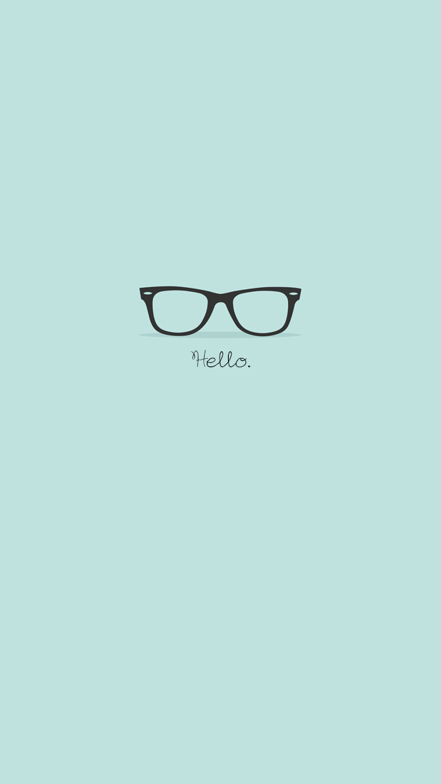 Flat-Hipster-Glasses-Turquoise-iPhone-Wallpaper-iPod-Wallpaper-HD-Free-Download-wallpaper-wp4806434