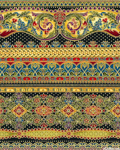 Florentine-Glorious-Golden-Stripes-by-Peggy-Toole-for-Robert-Kaufman-Fabric-wallpaper-wp4403411
