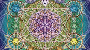 Flower of Life tapeter
