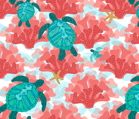 Follow-Me-Through-the-Reef-fabric-by-shellypenko-on-Spoonflower-custom-fabric-wallpaper-wp3005774