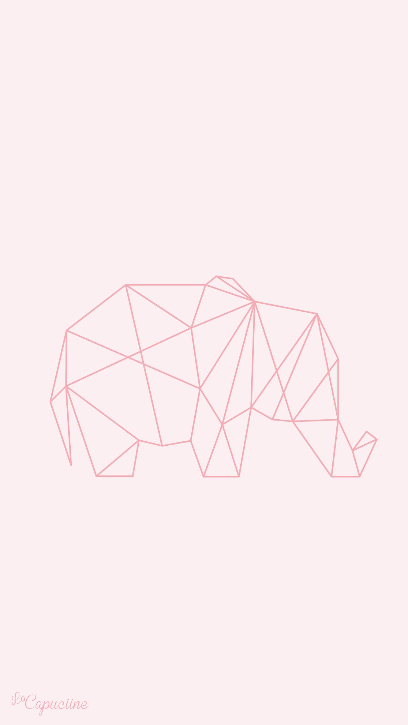 Fond-d%C3%A9cran-%C3%A9l%C3%A9phant-origami-La-Capuciine-wallpaper-wp4806466