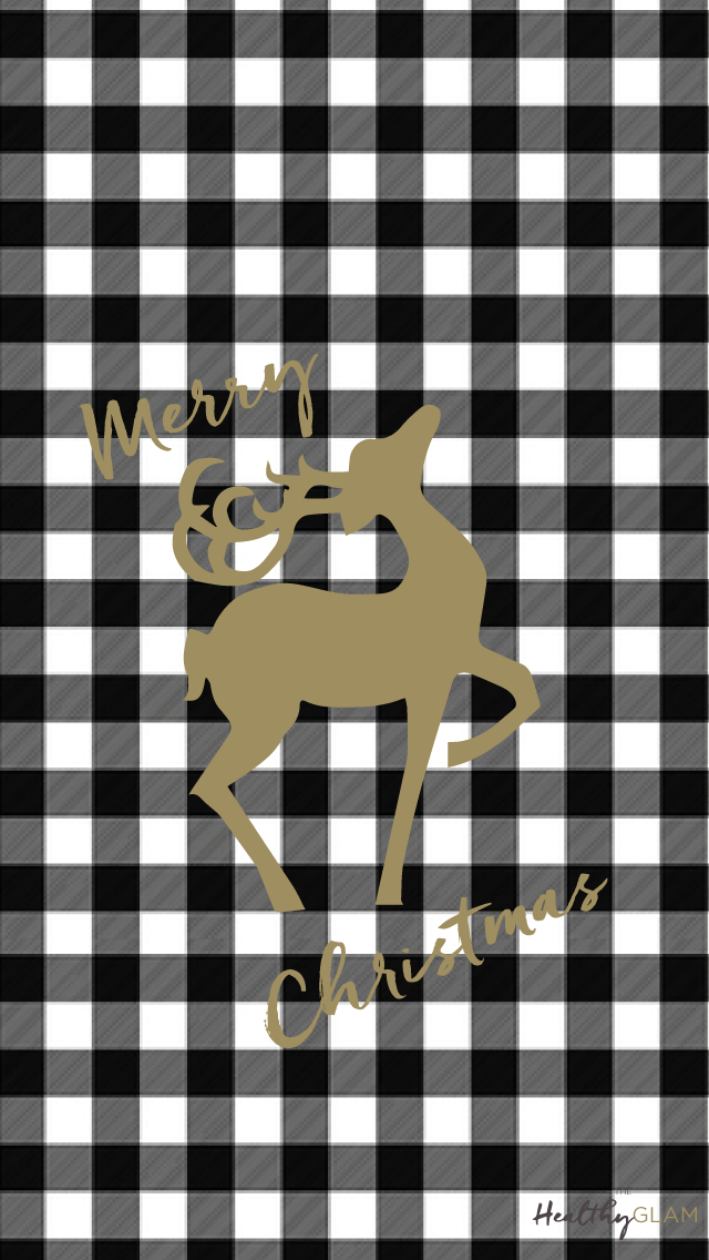 Free-iphone-Merry-Christmas-Plaid-and-gold-reindeer-wallpaper-wp4606025