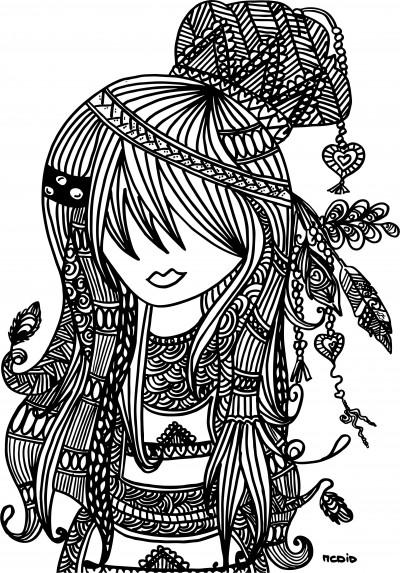 Free-printable-adult-coloring-page-Female-girl-doodles-Woodstock-Gratis-kleurplaat-voor-volwassen-wallpaper-wp460238-2