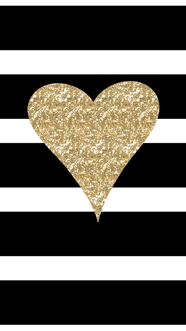Freebie-Adorable-new-iPhone-Black-White-Stripes-with-Gold-Glitter-Heart-wallpaper-wp4606043