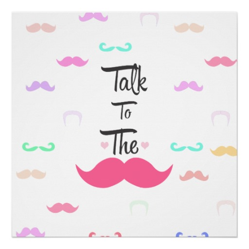 Funny-Girly-Talk-To-The-Mustache-Bright-Pink-Heart-Posters-wallpaper-wp4606105