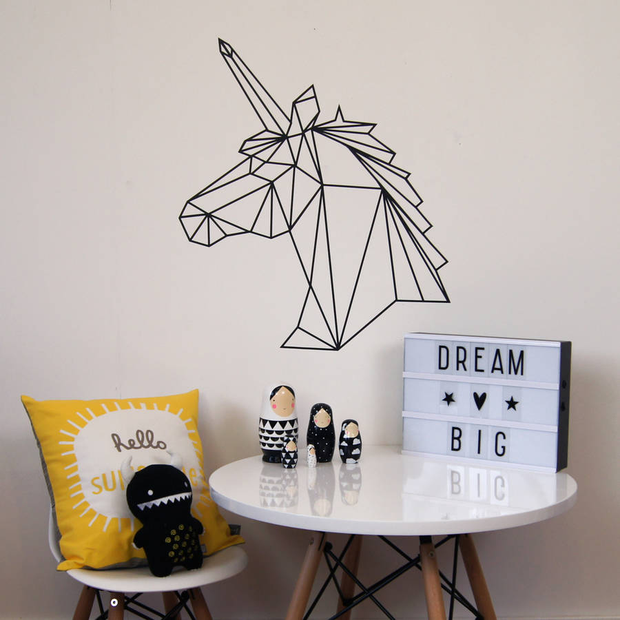 Geometric-Unicorn-Wall-Sticker-wallpaper-wp5805966