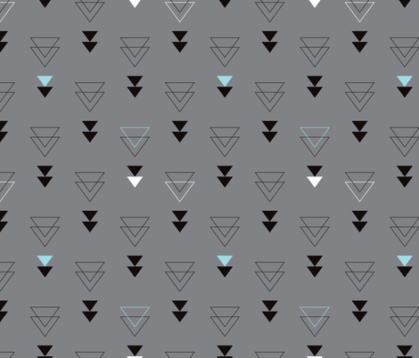 Geometric-triangle-in-trendy-black-gray-white-and-pastel-blue-Abstract-geo-theme-fabric-by-Littl-wallpaper-wp5206964