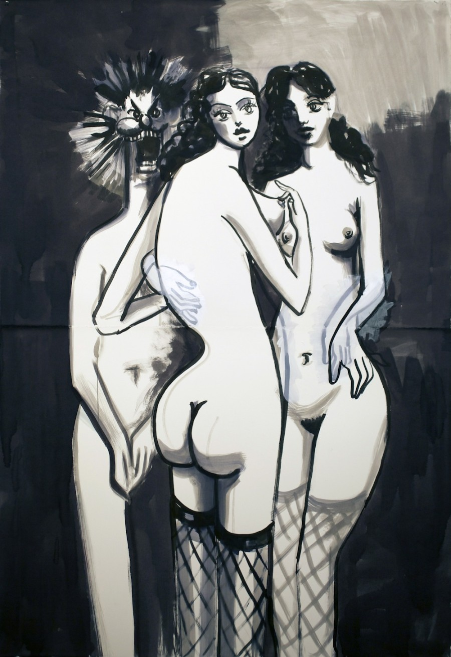 George-Condo-Creates-Seductive-Nightmares-From-Ink-And-Paper-wallpaper-wp6003665