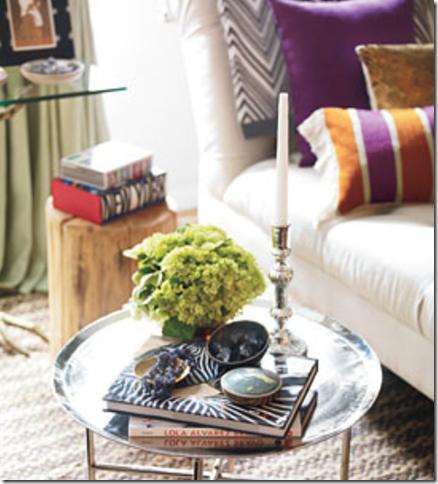 Gina-Kates-Nate-Berkus-Design-HSN-Moroccan-tray-table-rug-sofa-herringbone-throw-blanket-and-wallpaper-wp4407393