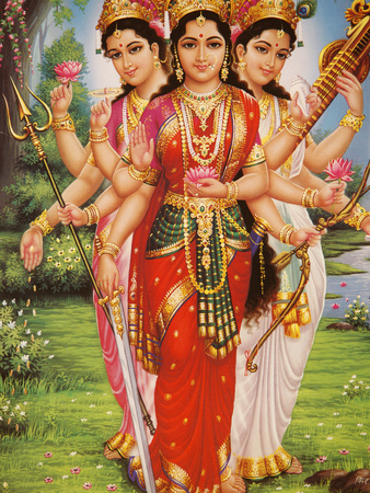Goddesses-Parvati-Lakshmi-and-Saraswati-wallpaper-wp6003722