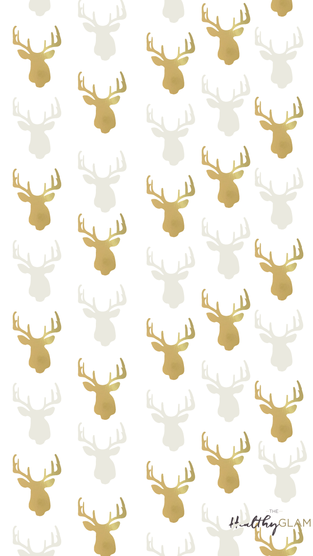Gold-reindeers-Christmas-iphone-wallpaper-wp4606278