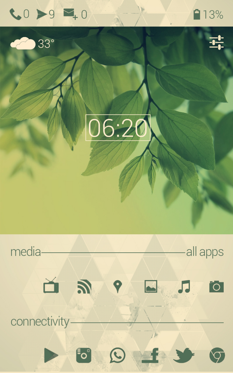 Greenimal-Android-Homescreen-UCCW-Minimal-Simple-White-Green-Nature-Basic-Beautiful-wallpaper-wp4606456
