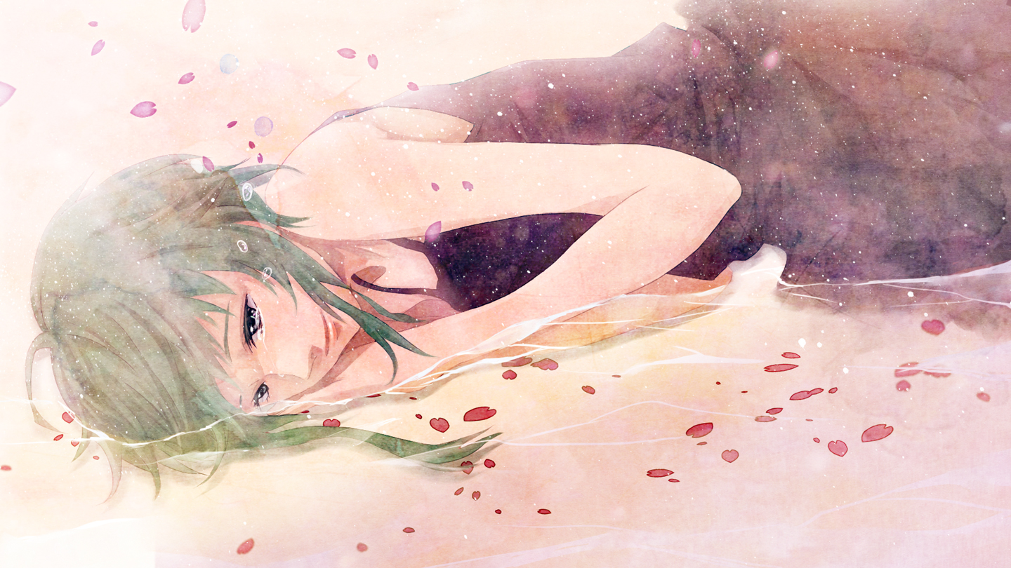 Gumi-crying-with-flower-petals-wallpaper-wp5806202