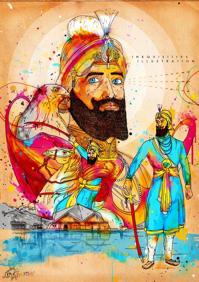 Guru-Gobind-Singh-Ji-inkquisitive-illustration-wallpaper-wp5008239