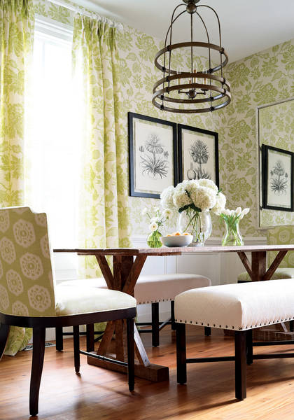 Helena-and-fabric-in-lime-green-Stirling-Chair-from-ThibautFineFurniture-in-Circle-I-wallpaper-wp5405614