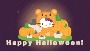 Hello Kitty Halloween taustakuva