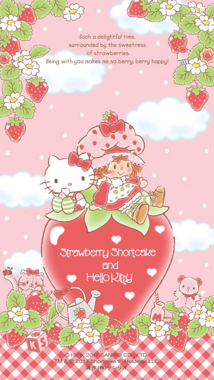 Hello-Kitty-and-Strawberry-Shortcake-wallpaper-wp4606682