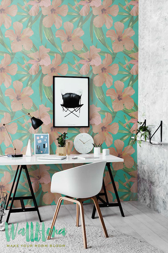 Hibiscus-Pattern-Removable-by-WallfloraShop-wallpaper-wp42312-1