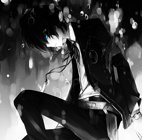 High-school-anime-boy-with-glowing-blue-eyes-in-the-rain-What-is-this-wallpaper-wp4005284
