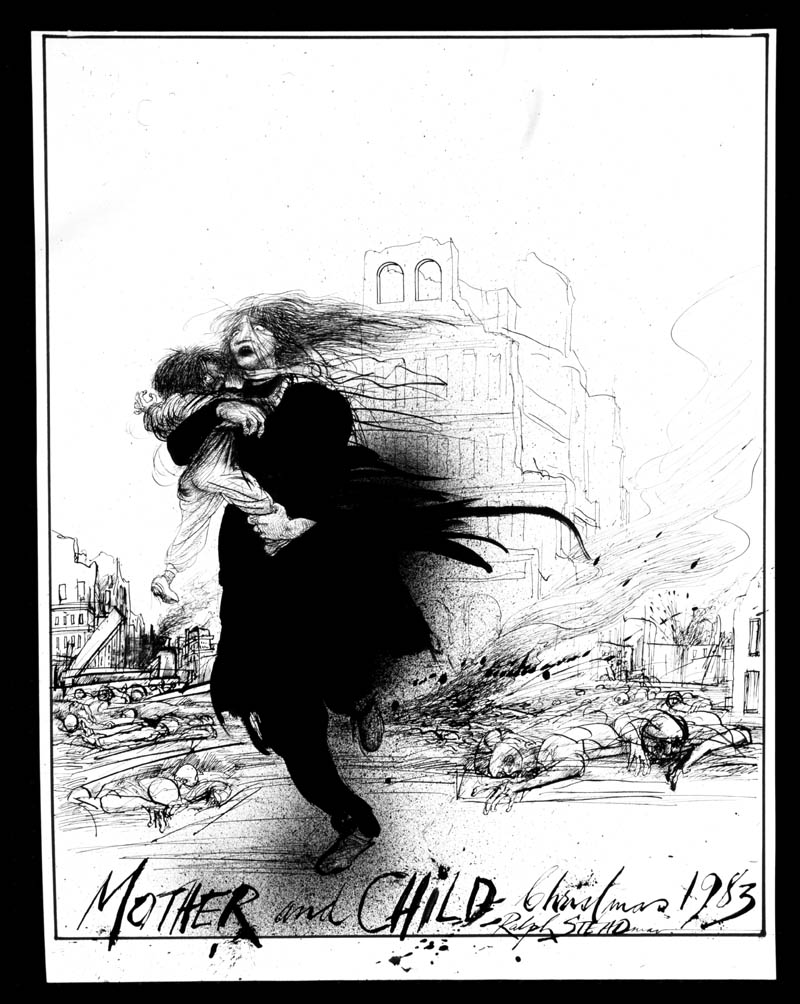 Humanitarian-collection-Mother-and-Child-Illustration-by-Ralph-Steadman-wallpaper-wp5207732