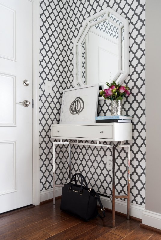 I-love-the-entry-way-A-Couples-Graphic-Cool-Small-Space-Condo-Professional-Project-Apartment-T-wallpaper-wp5008910