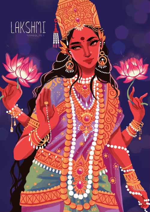 ITS-PGLICIOUS-%E2%80%94-Illustration-of-the-Hindu-goddess-Lakshmi-wallpaper-wp6004225