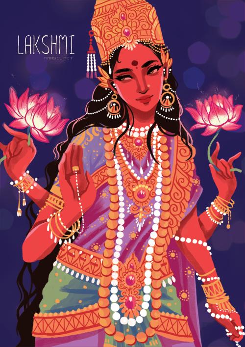 ITS-PGLICIOUS-%E2%80%94-Illustration-of-the-Hindu-goddess-Lakshmi-wallpaper-wp6004225
