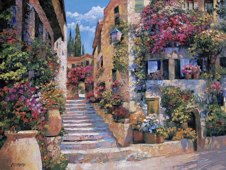 Italian-Murals-Street-Scenes-Tile-Mural-Creative-Arts-wallpaper-wp426693-1