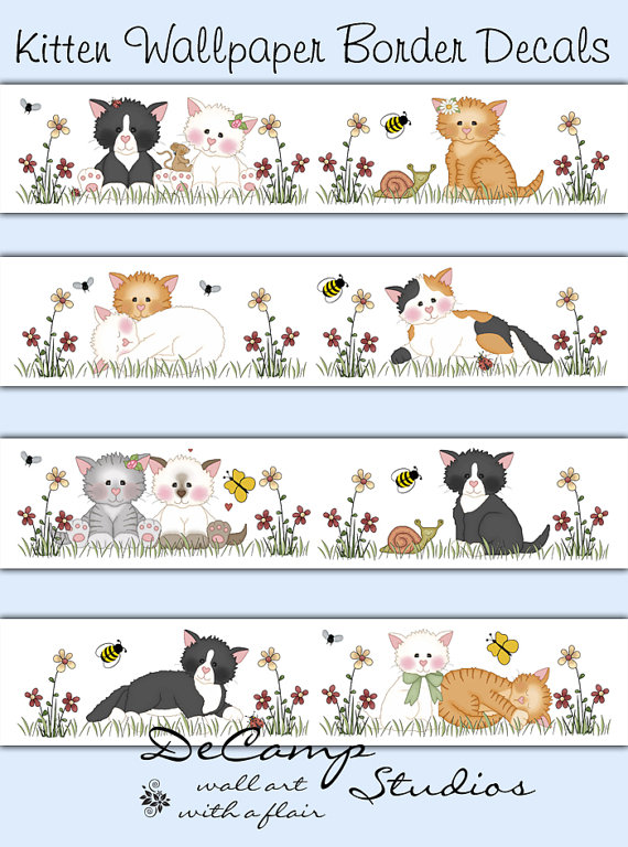 Kitty-Cat-Border-for-baby-girl-nursery-and-childrens-room-kitten-decor-Bright-colors-Bea-wallpaper-wp5208487
