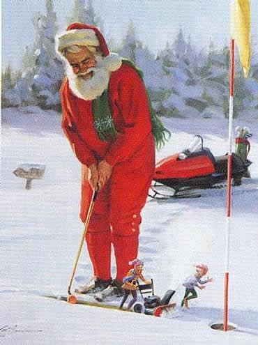 Le-pere-noel-fait-du-golf-wallpaper-wp427087