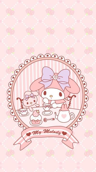 My-Melody-Tea-Party-wallpaper-wp5808082