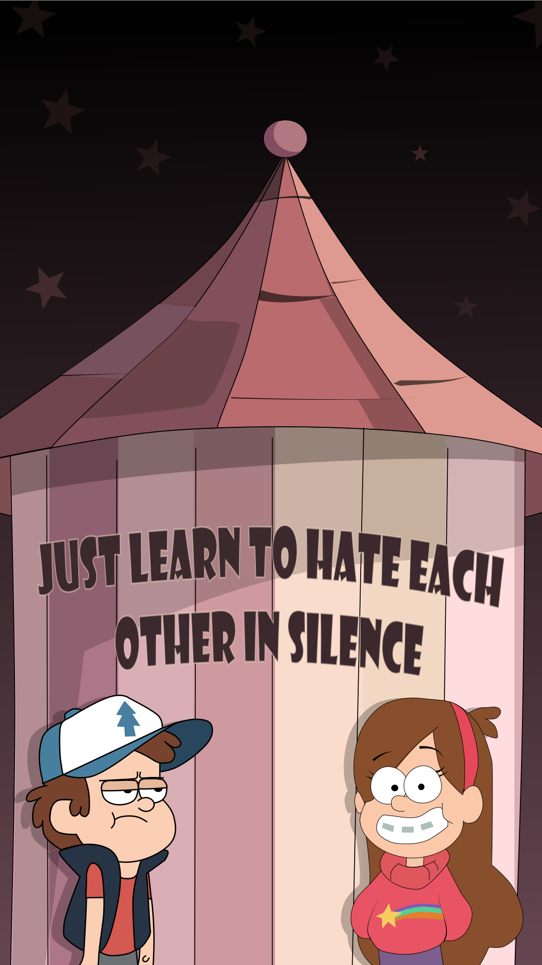 OCMO-Gravity-Falls-Mobile-Learn-to-hate-each-other-in-silence-1080x1920-Need-iPhone-S-wallpaper-wp3401686