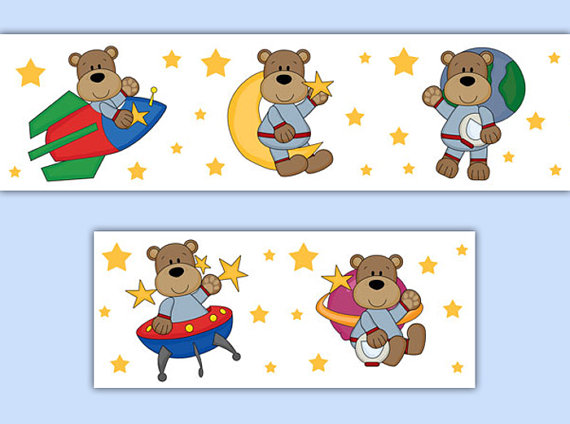 OUTER-SPACE-DECOR-Nursery-Teddy-Bear-Border-Wall-Art-Decal-Boy-Stickers-Moon-Star-Baby-Roo-wallpaper-wp52010047