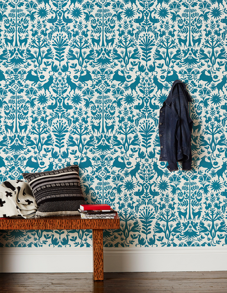Otomi-Turquoise-by-Emily-Isabella-for-Hygge-West-wallpaper-wp5203590