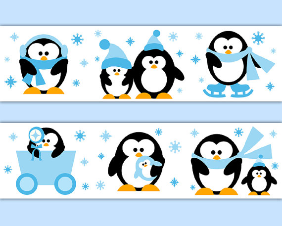 PENGUIN-BORDER-Decal-Wall-Art-Neutral-Nursery-Arctic-Animal-Stickers-Room-Decor-Baby-Boy-S-wallpaper-wp52010188