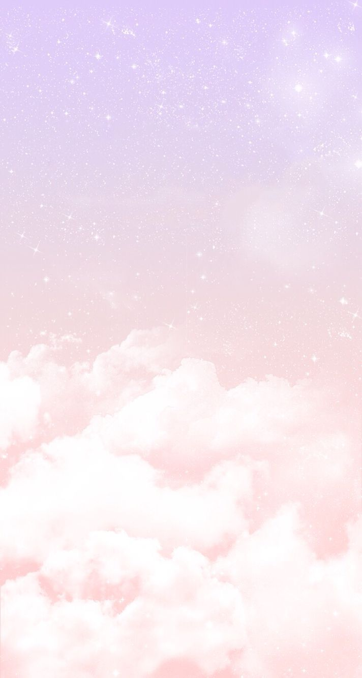 Pastel-lilac-pink-clouds-stars-iphone-phone-background-lock-screen-wallpaper-wp4609046