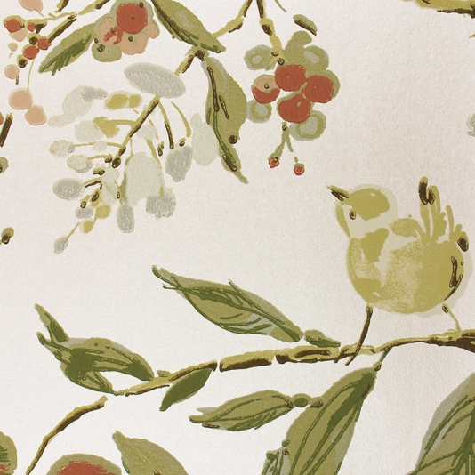 Penglai-A-delightful-featuring-an-informal-design-of-birds-nestling-amongst-blos-wallpaper-wp428308