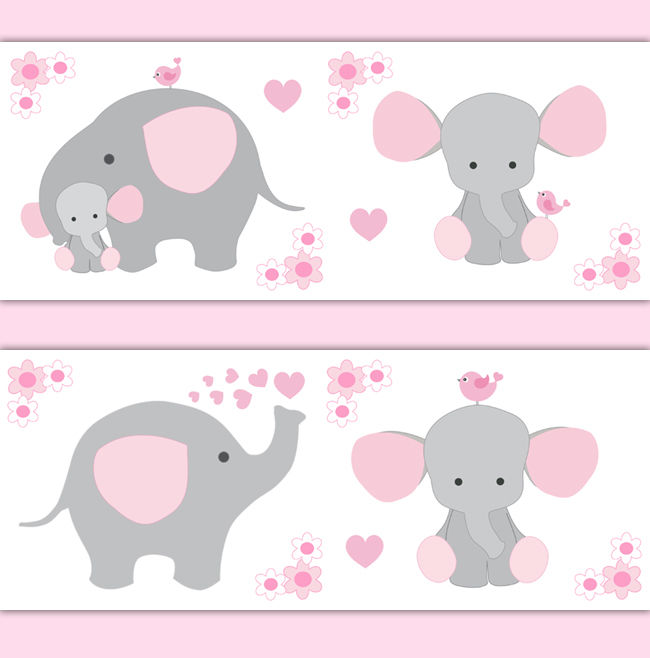 Pink-Grey-Elephant-Nursery-Baby-Girl-Border-Wall-Art-Decal-Stickers-decampstudios-wallpaper-wp52010304
