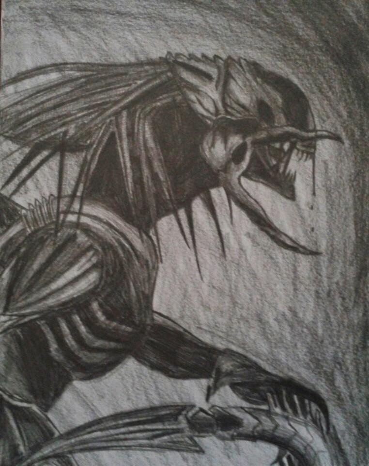 Pred-Alien-B-B-pencil-wallpaper-wp50011306