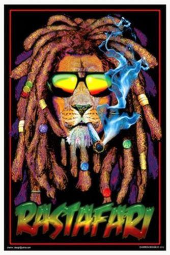 RASTAFARI-LION-MARIJUANA-BLACKLIGHT-POSTER-X-POT-WEED-SMOKING-wallpaper-wp428698