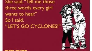 Sangrar Iowa State Cyclones Cardinal and Gold! papel de parede