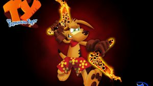 Ty The Tasmanian Tiger kertas dinding