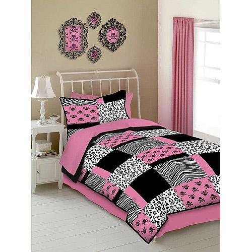 Veratex-Pink-Skulls-Polyester-Microfiber-Bed-in-a-Bag-Bedding-Set-Walmart-com-wallpaper-wp5609335