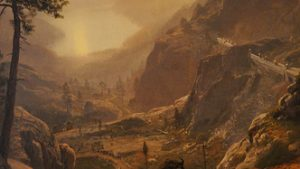 Albert Bierstadt Painting Art eftergrûn Images wallpaper