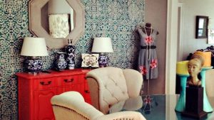 Stenciled paredes pintadas wallpaper