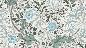 Liberty William Morris etc wallpaper