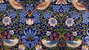 Rakkaus Liberty William Morris tapetti