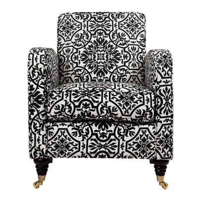 angelo-HOME-Grant-Straight-Arm-Chair-in-Black-and-White-Damask-wallpaper-wp423647